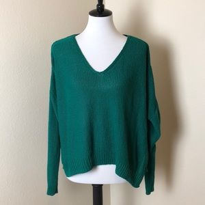 H&M Emerald Green Slouchy Sweater Size M
